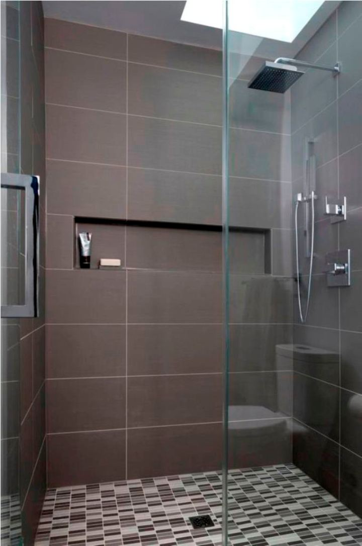 30 small modern bathroom ideas deshouse for Modern shower design